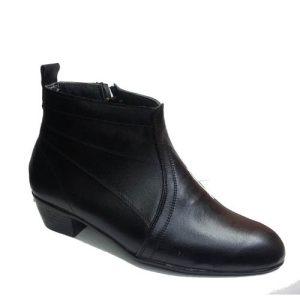 کفش نیم بوت چرم مردانه تخم مرغی