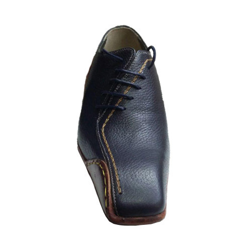 کفش مردانه چرم دست دوز بغل بندی بغل بخیه