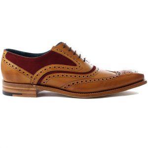 کفش مردانه چرم دست دوز هشترک دو رنگ