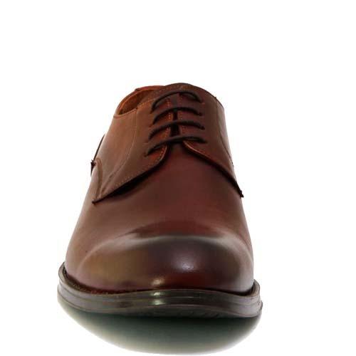 کفش مردانه چرم بزرگ پا بندی ساده