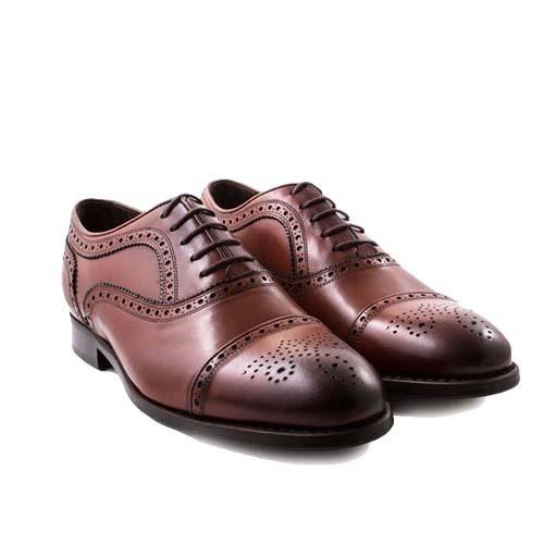 کفش مردانه چرم بزرگ پا زیرسوار بندی 2