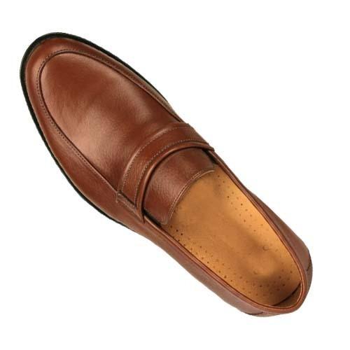 کفش مردانه چرم بزرگ پا بی بند ساعتی