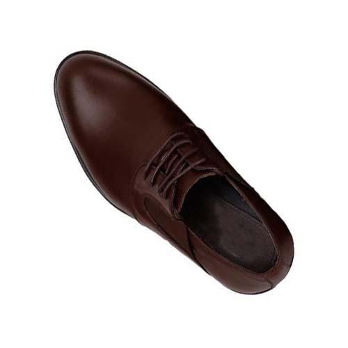 کفش مردانه چرم بزرگ پا بندار ساده