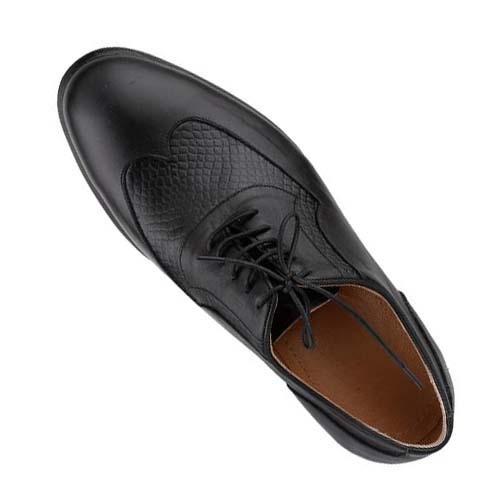 کفش مردانه چرم بزرگ پا بندار سه تکه