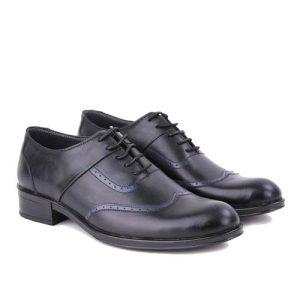 کفش مردانه چرم بزرگ پا بندار دو تکه