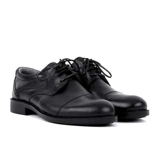 کفش مردانه چرم بزرگ پا بندی سرپنجه دار
