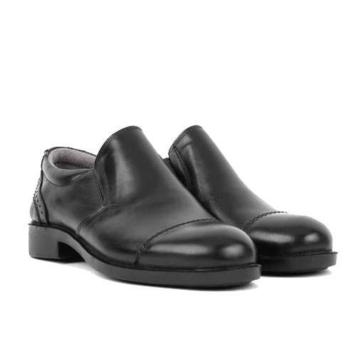 کفش مردانه چرم بزرگ پا بی بند سرپنجه دار