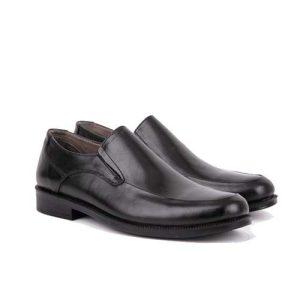 کفش مردانه چرم بزرگ پا بی بند پرسنلی