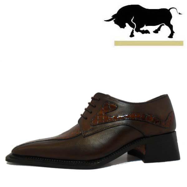 کفش مردانه چرم دست دوز شاخدار اتوبانی