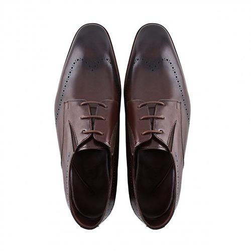 کفش مردانه چرم دست دوز بندی بغل کشدار