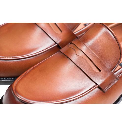 کفش مردانه چرم دست دوز بی بند آخوندی