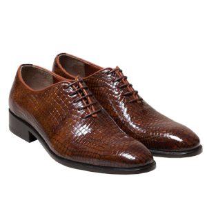 کفش مردانه چرم دست دوز بندار پوست ماری
