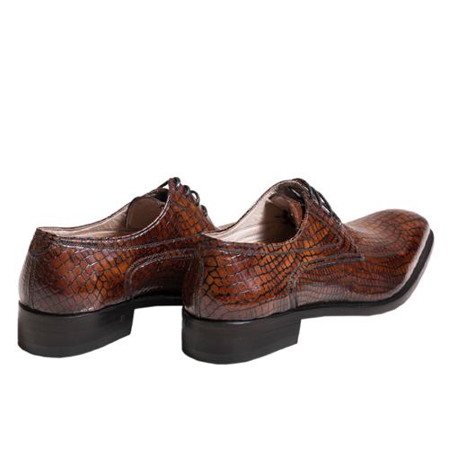 کفش مردانه چرم دست دوز پوست مار 2