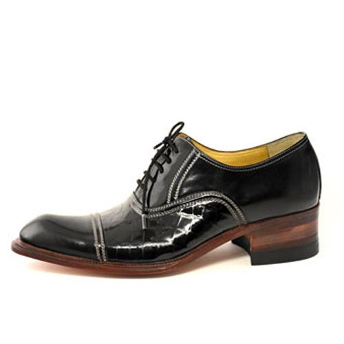 کفش مردانه چرم دست دوز ورنی بندار1