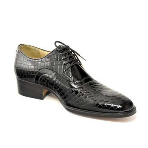 کفش مردانه چرم دست دوز ورنی پوست ماری