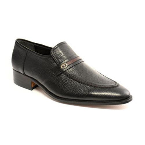 کفش مردانه چرم دست دوز بی بند فاراد