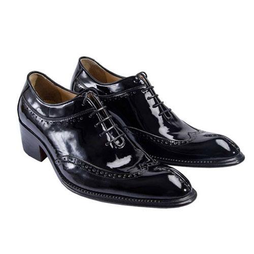 کفش مردانه تمام چرم دست دوز ورنی مدل مارسی