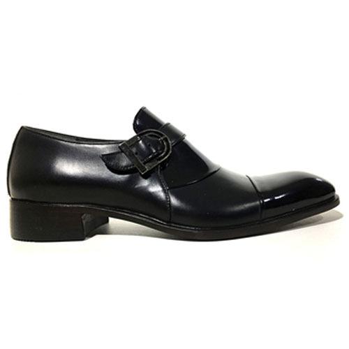 کفش مردانه تمام چرم دست دوز ورنی توقا دار دلفینی