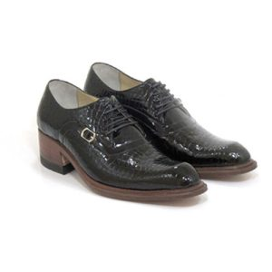 کفش مردانه تمام چرم دست دوز دلفینی توقادار ورنی