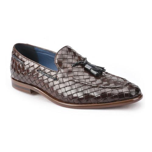 کفش مردانه تمام چرم دست دوز زنگوله ای حصیری 2