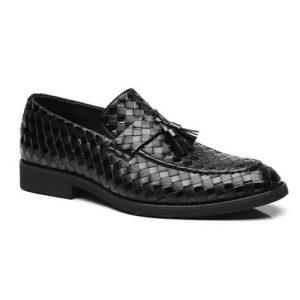 کفش مردانه تمام چرم دست دوز زنگوله ای حصیری