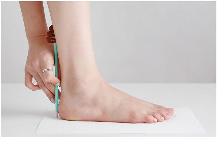 نحوه اندازه گیری سایز پا و کفش