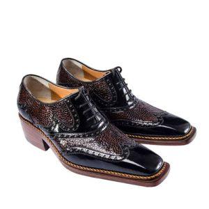 کفش مردانه تمام چرم دست دوز هشترک ورنی رانتی
