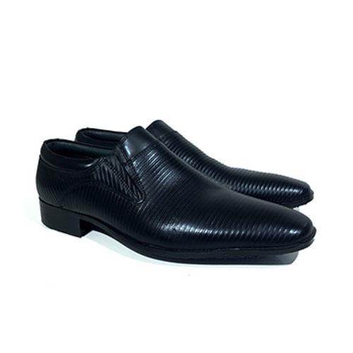 کفش مردانه تمام چرم دست دوز مدل شیاری