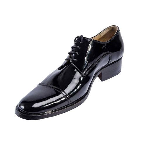 کفش مردانه تمام چرم دست دوز ورنی مدل سویسی بندی