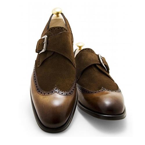 کفش مردانه تمام چرم دست دوز جیر و چرم توقادار