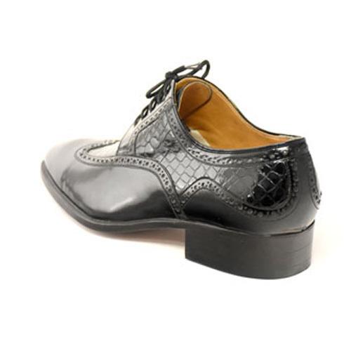 کفش مردانه چرم دست دوز هشترک ورنی بنددار