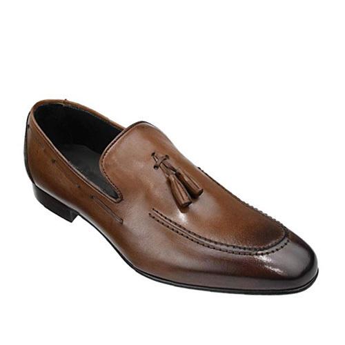کفش مردانه تمام چرم دست دوز کمر زنگوله ای