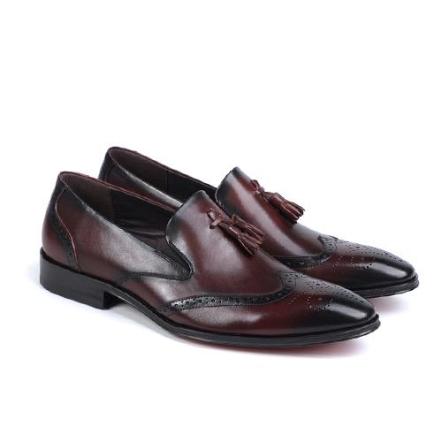 کفش مردانه چرم دست دوز هشترک زنگوله ای