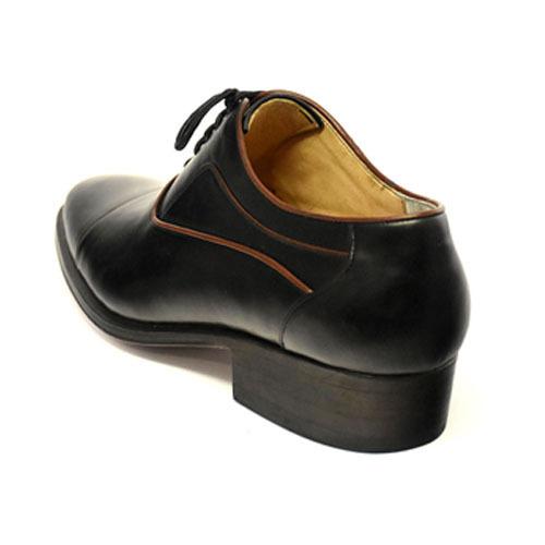 کفش مردانه تمام چرم دست دوز مدل زه دار بندی