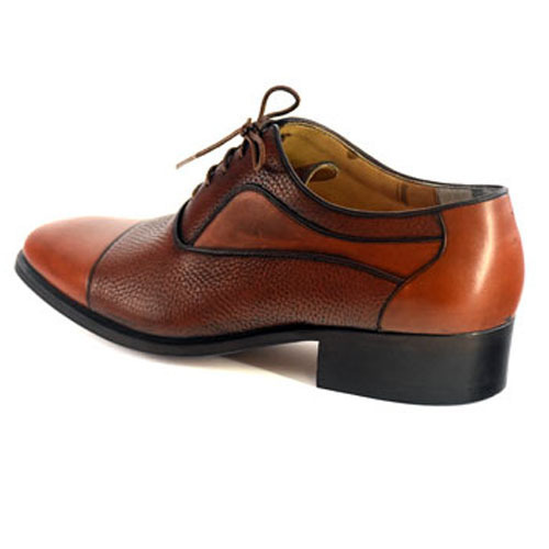 کفش مردانه تمام چرم دست دوز مدل زه دار زیر سوار