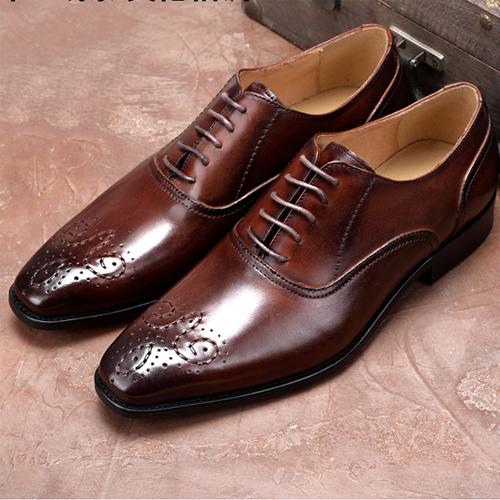 کفش مردانه چرم دست دوز بندار بوته ای