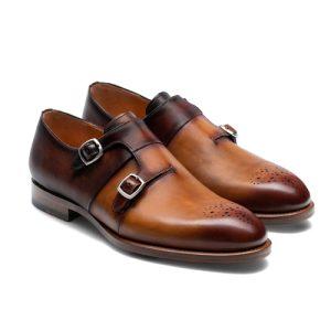 کفش مردانه تمام چرم دست دوز کد 012038