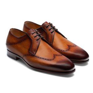 کفش مردانه تمام چرم دست دوز کد 012039