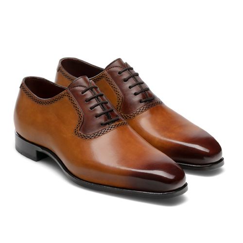 کفش مردانه تمام چرم دست دوز کد 012034
