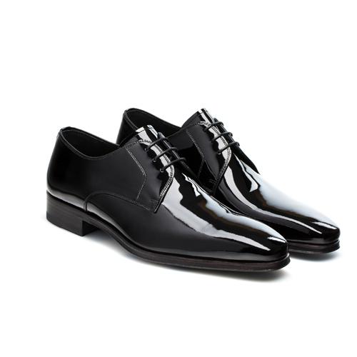 کفش چرم مردانه ورنی کد 012024